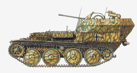 20-мм зенитная самоходная артиллерийская установка «Flakpanzer 38»