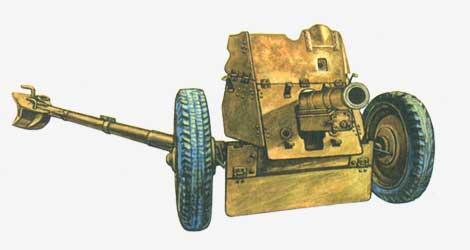 76,2-мм полковая пушка ОБ-25 Цирульников 1943