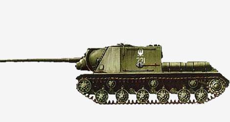 122-мм самоходная артиллерийская установка ИСУ-122 1944