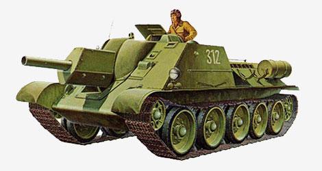 122-мм самоходная артиллерийская установка СУ-122 1942