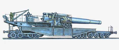 400-мм железнодорожная гаубица St.Chamond 1915