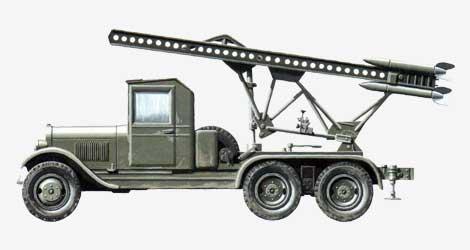 Реактивная установка БМ-13 1941