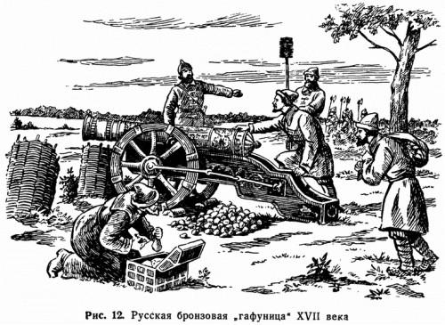 "Рис. 12. Русская бронзовая ""гафуница"" XVII века"